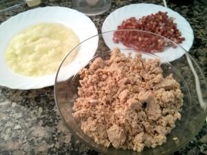 carne, cebolla y jamon