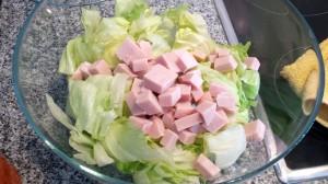 Preparación de la ensalada china