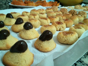 Panellets - decorando con chocolaaate