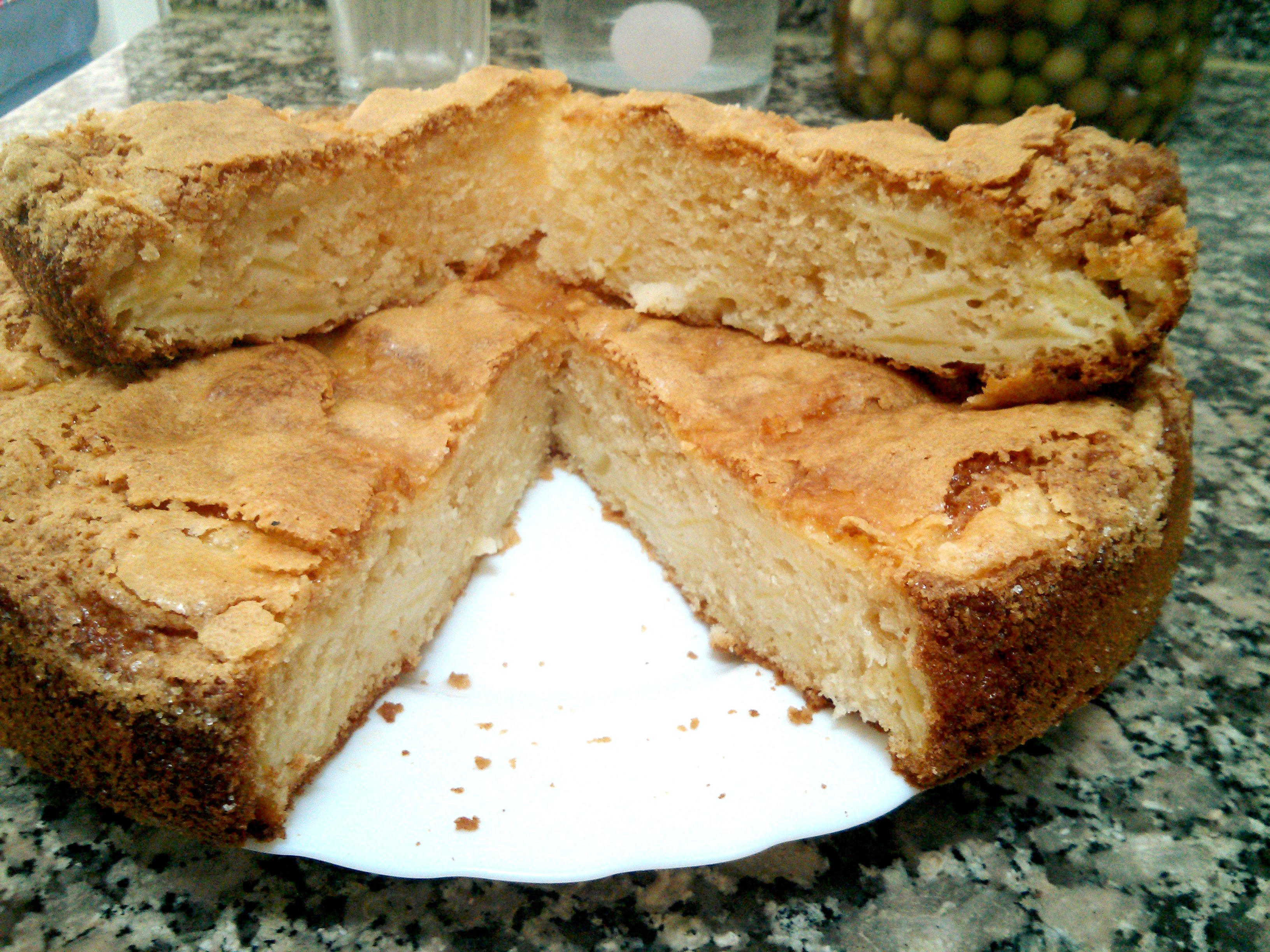 Bizcocho manzana - corte
