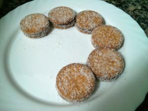Colocando las galletas