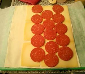 Añadimos el salami