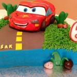 Pastel de cumpleaños de Rayo McQueen