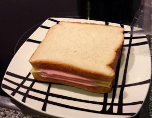 Sándwich preparado sin palillos