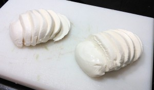Mozzarella a rodajas