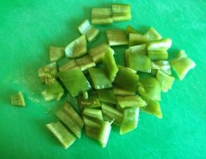 Pimiento verde a corte grande