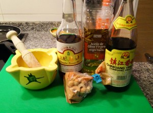 Ingredientes para el aliño