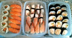 Surtido de sushis