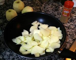 Cortamos a rebanadas las manzanas