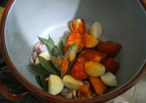 Ponemos también la pimienta y el colorante