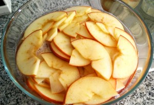 Manzanas ya cocidas