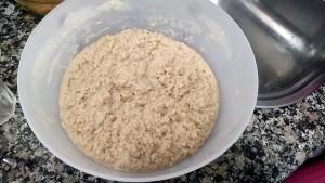 Gluten ya mezclado con el agua
