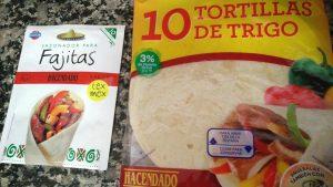 Sazonador de fajitas y paquete de tortitas