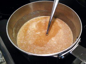 mantequilla y cacahuete derretida
